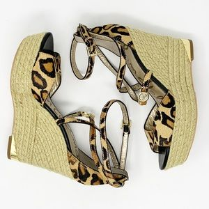 Sam Edelman 'Turner' Cheetah Espadrille Wedge 7.5